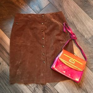 Vintage camel pencil skirt Sz 14